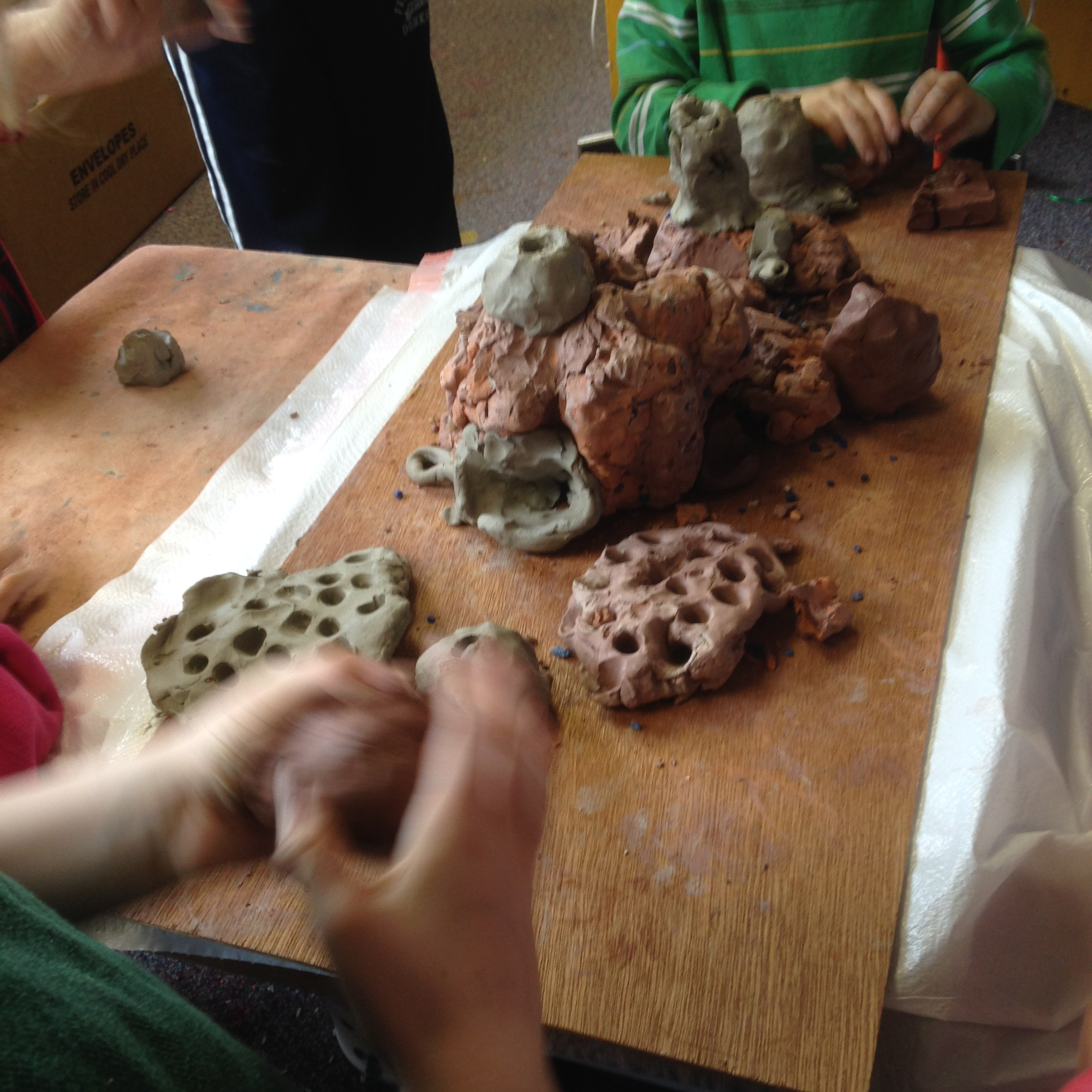 With different tools and even fingers, every child brought something special to the clay.