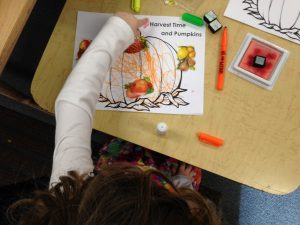 Stickers, stamps and markers bring the colors of the harvest to life!