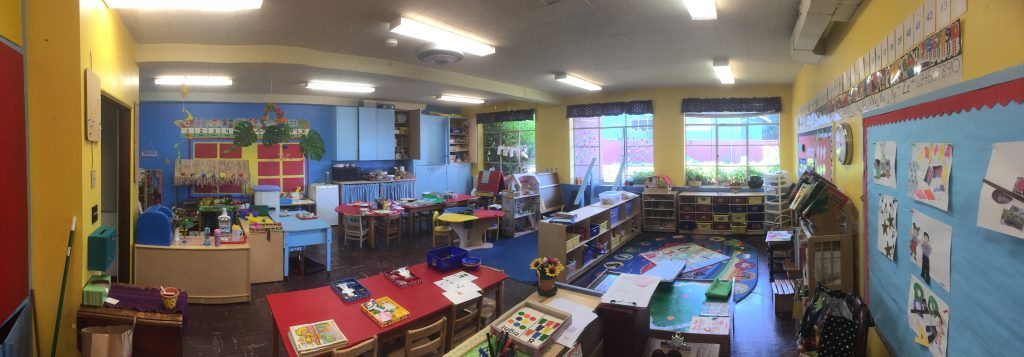 From the door to the classroom you can see how many wonderful options for engagement and enrichment the children have.